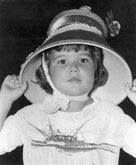 Tricia as a kid in hat contest