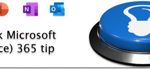 quick tip - microsoft 365